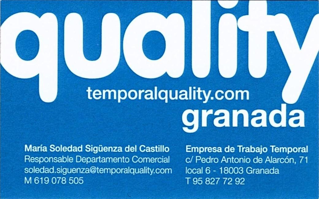 tarjeta Temporal Quality