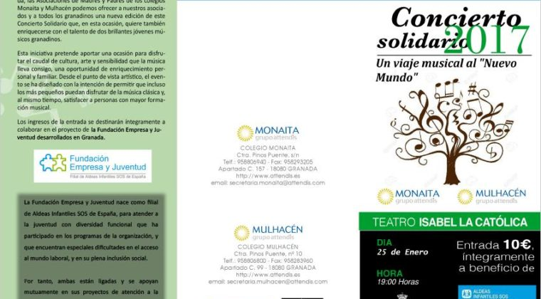 Concierto Solidario 2017 a favor de Fundación Empresa y Juventud.