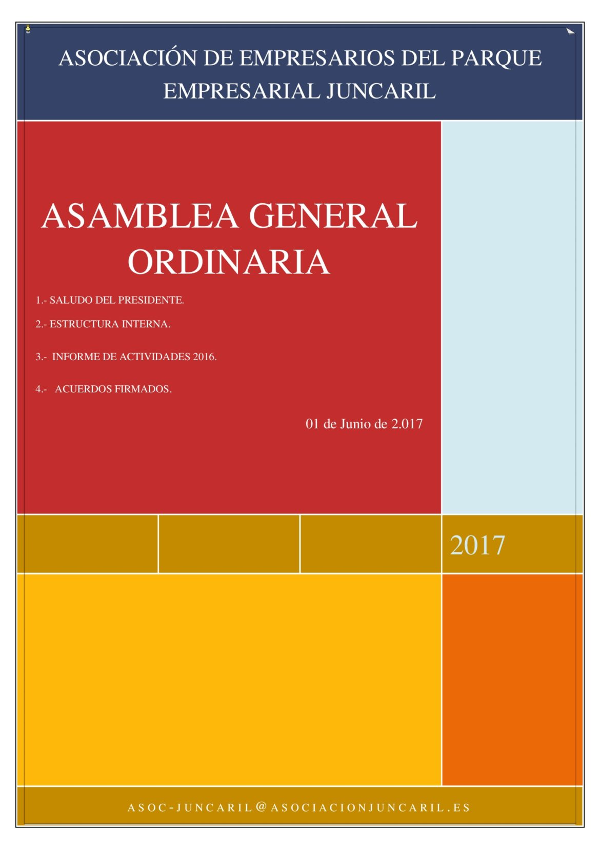 Celebración ASAMBLEA GENERAL ORDINARIA