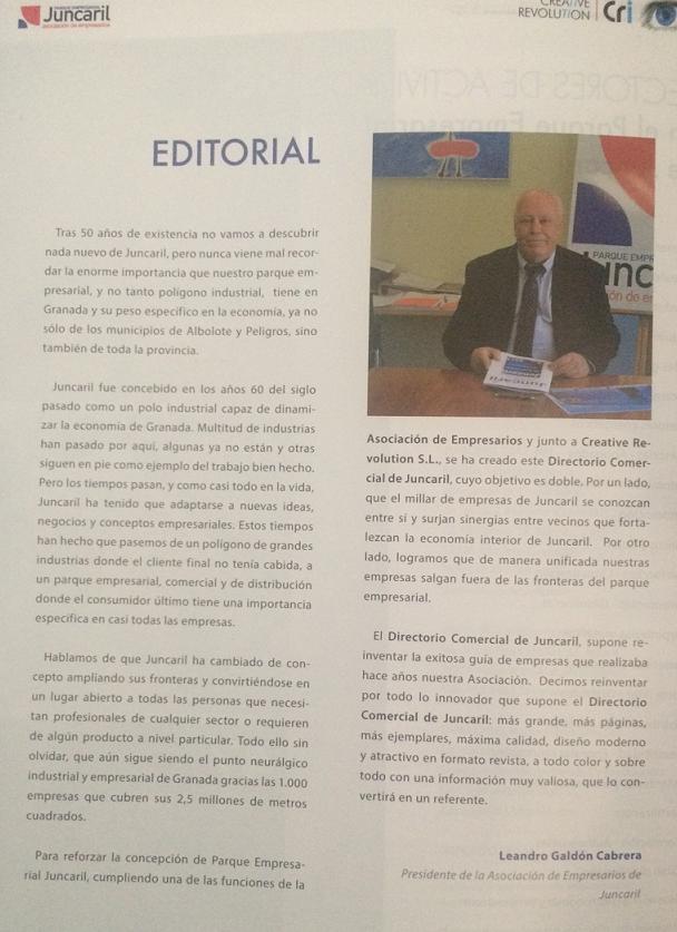 editorial segunda edición