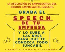 Grabamos tu speech y lo compartimos en redes sociales.